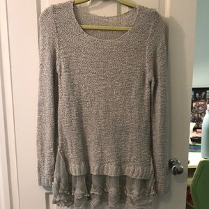 Sweaters - Sweater with lace detailing